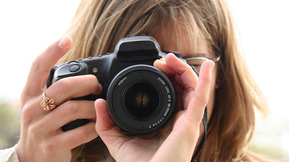Ein Fotojournalist im Uniklinikum.