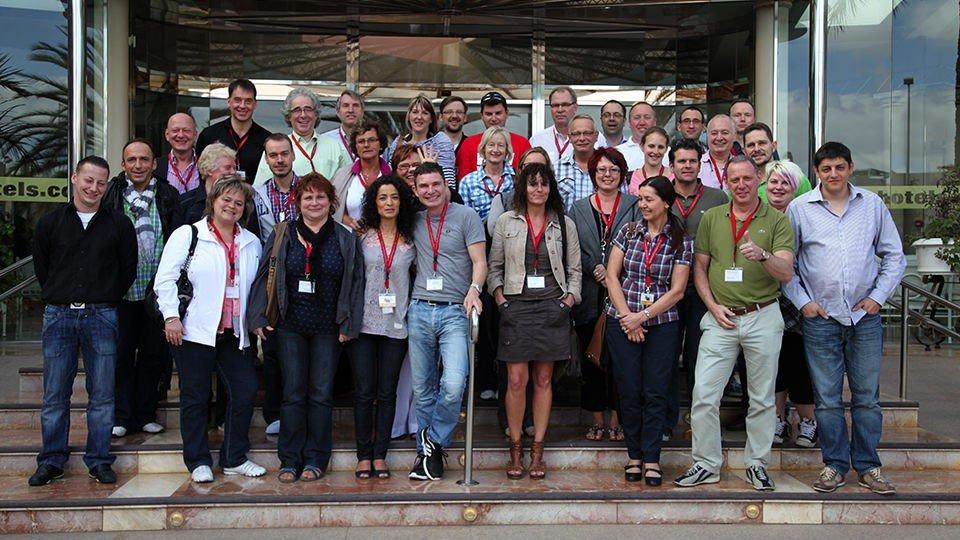 Gruppenbild der Teilnehmerinnen und Teilnehmer der Winterakademie 2012.