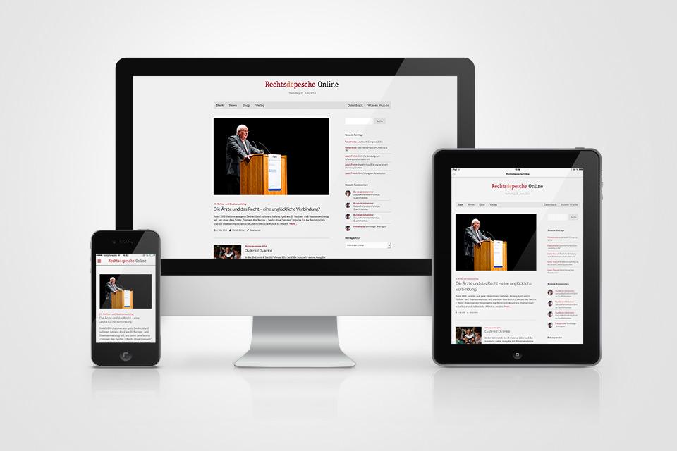 So wird sich die neue Rechtsdepesche Online voraussichtlich ab Juli präsentieren.