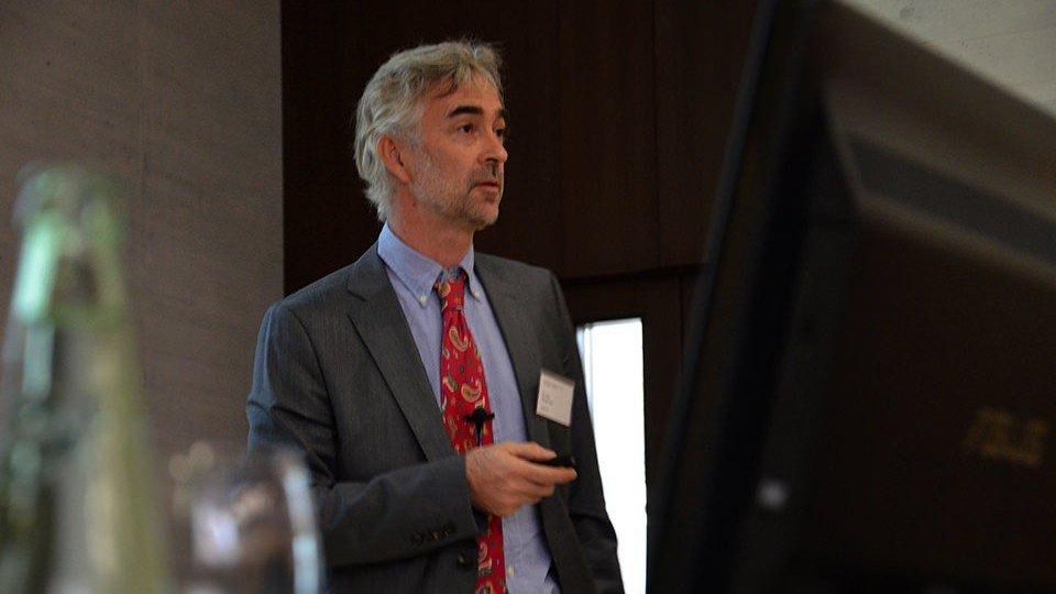 Dr. Georg Pinter, Klagenfurt beim DGG-Jahreskongress in Halle (Saale)