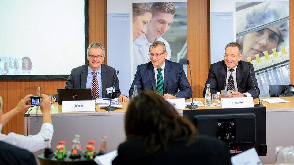 v.l.n.r.: Manfred Beeres, Dr. Meinrad Lugan, Joachim M. Schmitt