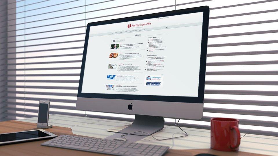 iMac mit Rechtsdepesche Online