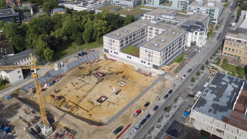 Ein neues Universitätsklinikum in Leipzig wird gebaut.