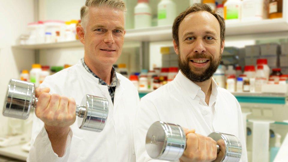 Prof. Wollert und Prof. Kempf