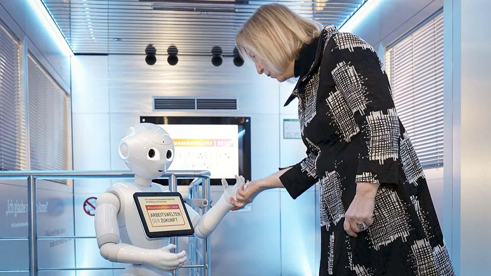 Robotik in der Pflege.