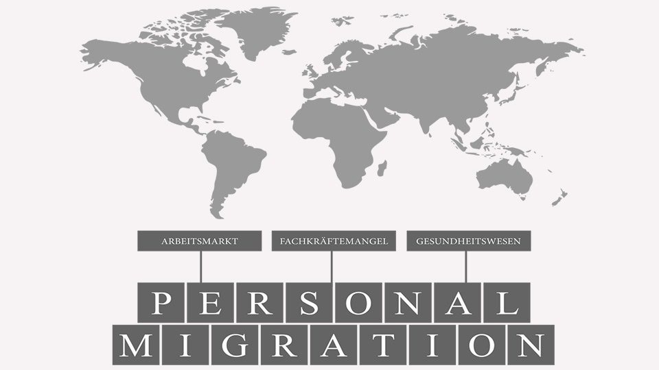 Personalmigration im Gesundheitswesen.