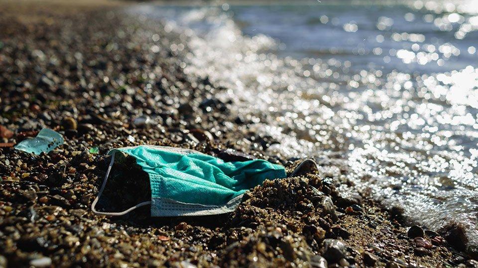 Müllaufkommen durch Einwegprodukte der Schutzausrüstung während der Corona-Krise.