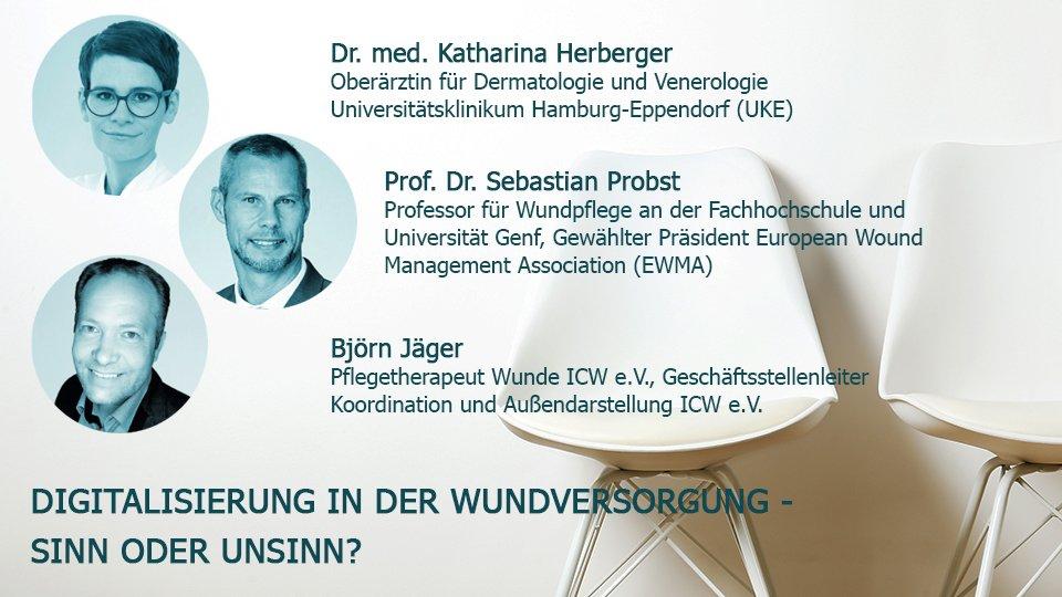 Was kann Telemedizin in der Wundversorgung leisten? Unter anderem darum ging es bei der Online-Podiumsdiskussion vom 3. Dezember 2020 mit Dr. med Katharina Herberger, Prof. Dr. Sebastian Probst und Björn Jäger